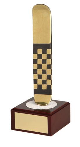 Snowboard Handmade Metal Trophy - 796