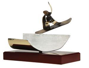 Snowboard Half Pipe Handmade Metal Trophy - 795