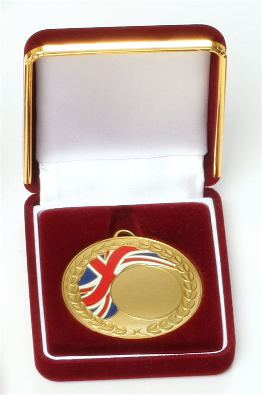 Deluxe Medal Box Red (size: fits 42mm medal ) - BBR42