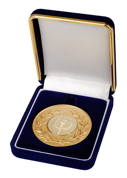 Deluxe Medal Box Blue (size: fits 50mm medal ) - BBB50