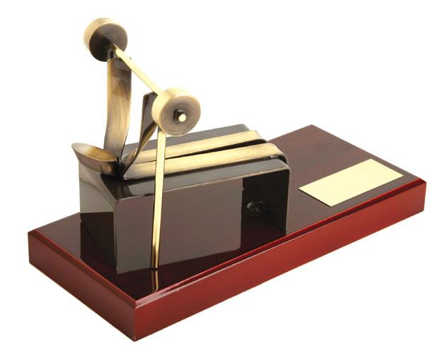 Weightlifting Handmade Metal Trophy - 881