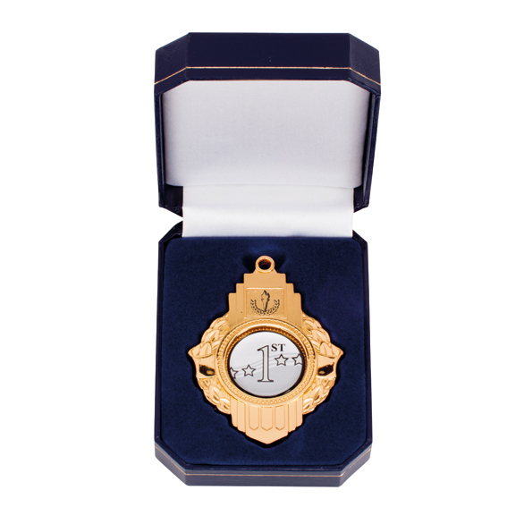 Gold Victoria Medallion In Box - MB1777G