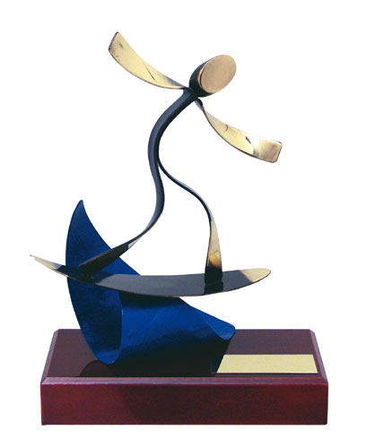 Surfing Handmade Metal Trophy - 300 SF