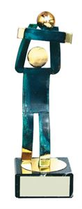 Volleyball Blue Figure Handmade Metal Trophy - 600 VO