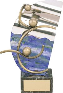 Water Polo Handmade Metal Trophy - 819