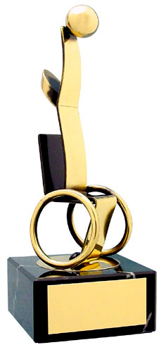 Wheelchair Basketball Handmade Metal Trophy - 140