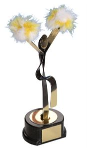 Cheerleading Handmade Metal Trophy - 465