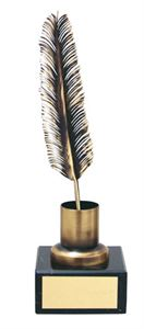 Quill and Ink Handmade Metal Trophy - 284