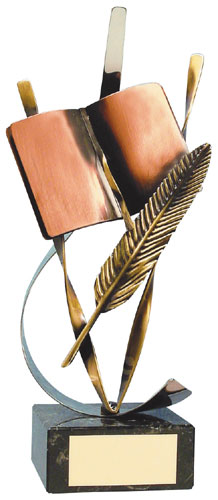 Literature Handmade Metal Trophy - 329