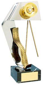 Camera and Film Handmade Metal Trophy - 127