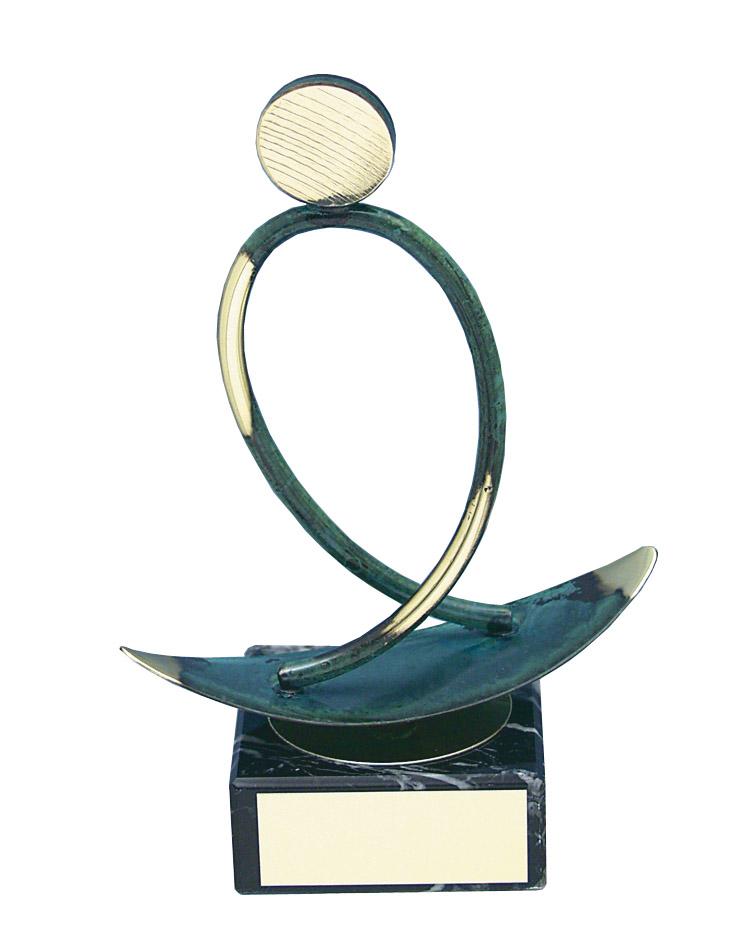Surfing Figure Handmade Metal Trophy - 149 SF