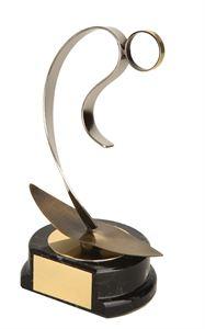 Gold Surfing Figure Handmade Metal Trophy - 800 SF
