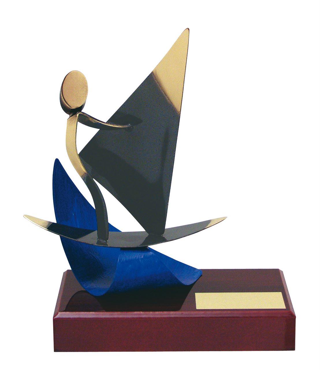 Windsurfing figure Handmade Metal Trophy - 300 WI