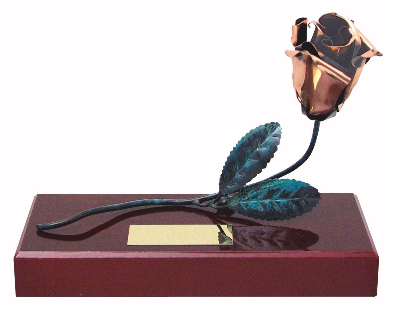 Rose Handmade Metal Trophy - 290