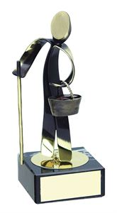 Farming Figure Handmade Metal Trophy - 611
