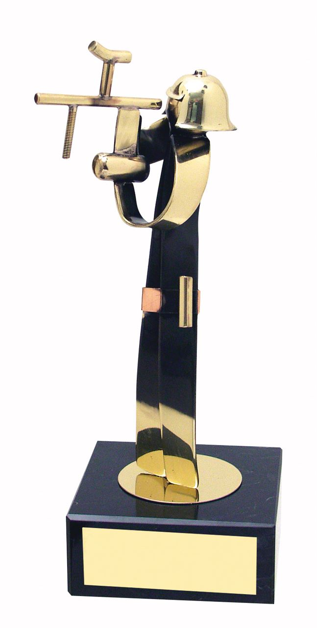 Paintballing Figure Handmade Metal Trophy - 433
