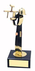 Paintballing Figure Handmade Metal Trophy