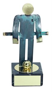 Table Football Blue Figure Handmade Metal Trophy - 600 FN