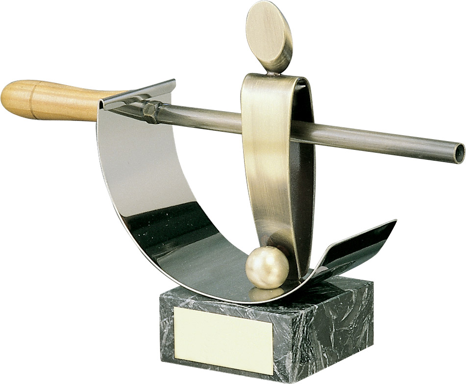 Table Football Gold Rod Handmade Metal Trophy - 996