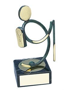 Walking Figure Handmade Metal Trophy - 149 EX