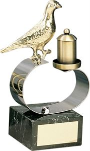 Bird and Feeder Handmade Metal Trophy