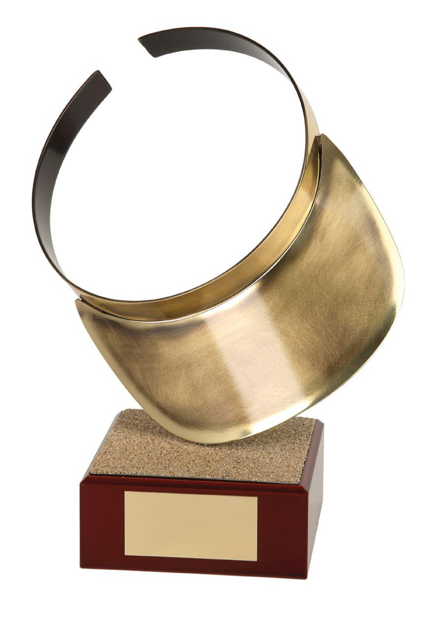 Beach Volleyball Visor Handmade Metal Trophy - 864