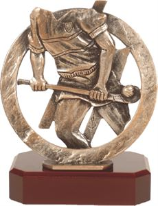Round Pewter Hurling Trophy - BEL294
