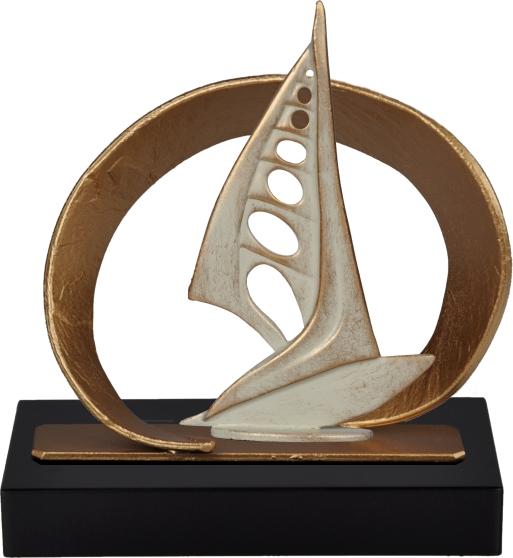Oval Frame Windsurfing Pewter Trophy - BEL740-442