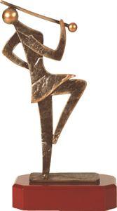 Majorette Figure Pewter Trophy - BEL255