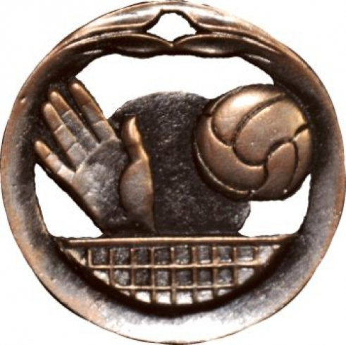 Circular Frame Volleyball Medal - MTL917