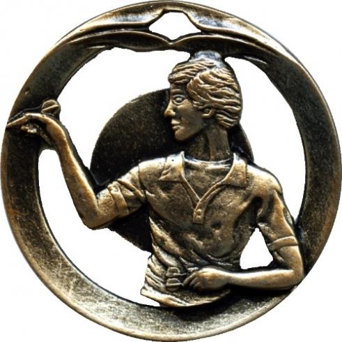 Circular Frame Darts Medal  - MTL912