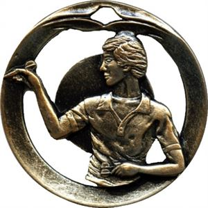 Circular Frame Darts Medal
