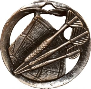 Circular Frame Darts Board Medal - MTL919