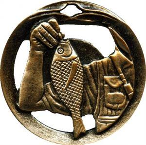 Circular Frame Fishing Medal