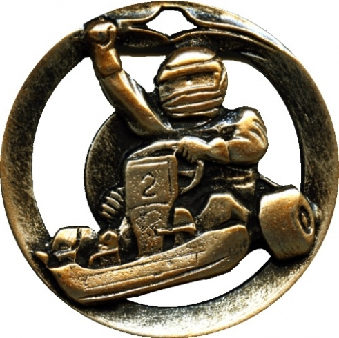Circular Frame Go Karting Medal  - MTL911