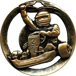 Circular Frame Go Karting Medal