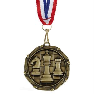 Combo Chess Medal & Ribbon (size: 45mm) - AM1156.12