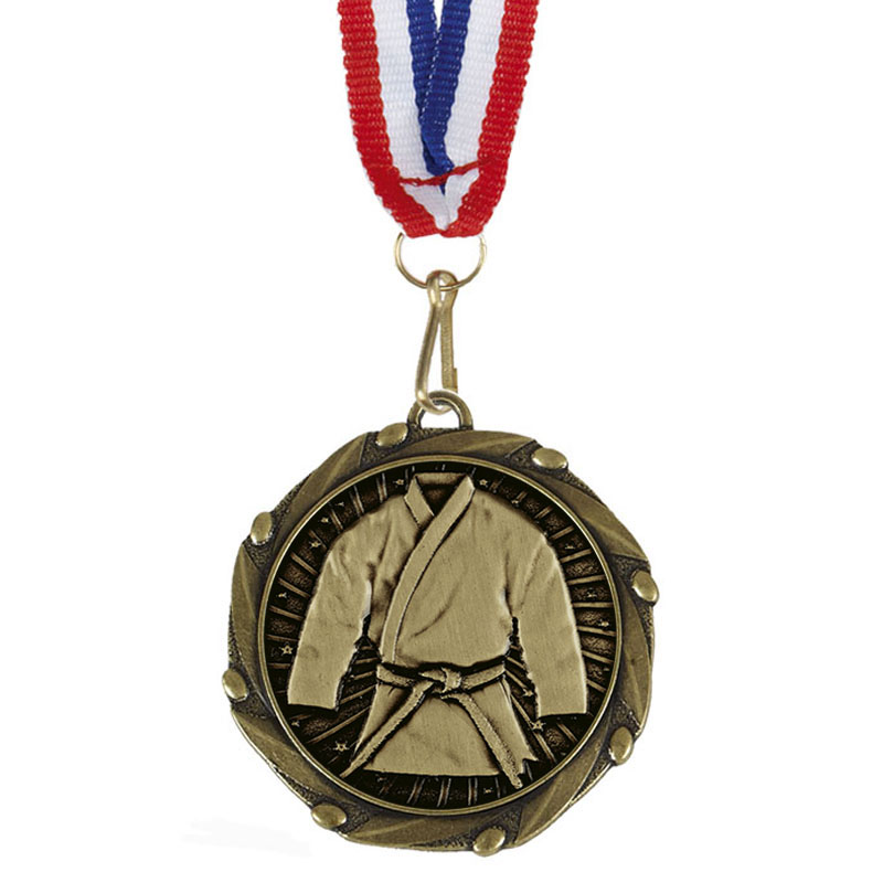 Combo Martial Arts Medal & Ribbon (size: 45mm) - AM1154.12