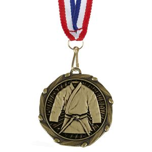 Combo Martial Arts Medal & Ribbon (size: 45mm) - AM1154.12