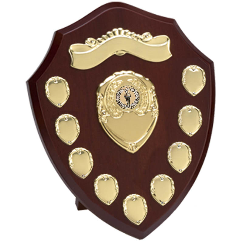 Triumph Gold Annual Shield With Scroll - W282G