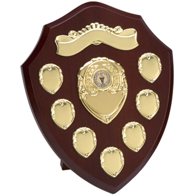 Triumph Gold Annual Shield With Scroll - W281G