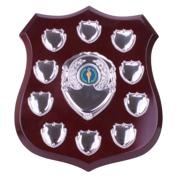 Illustrious Mahogany Annual Shield - SH8002A