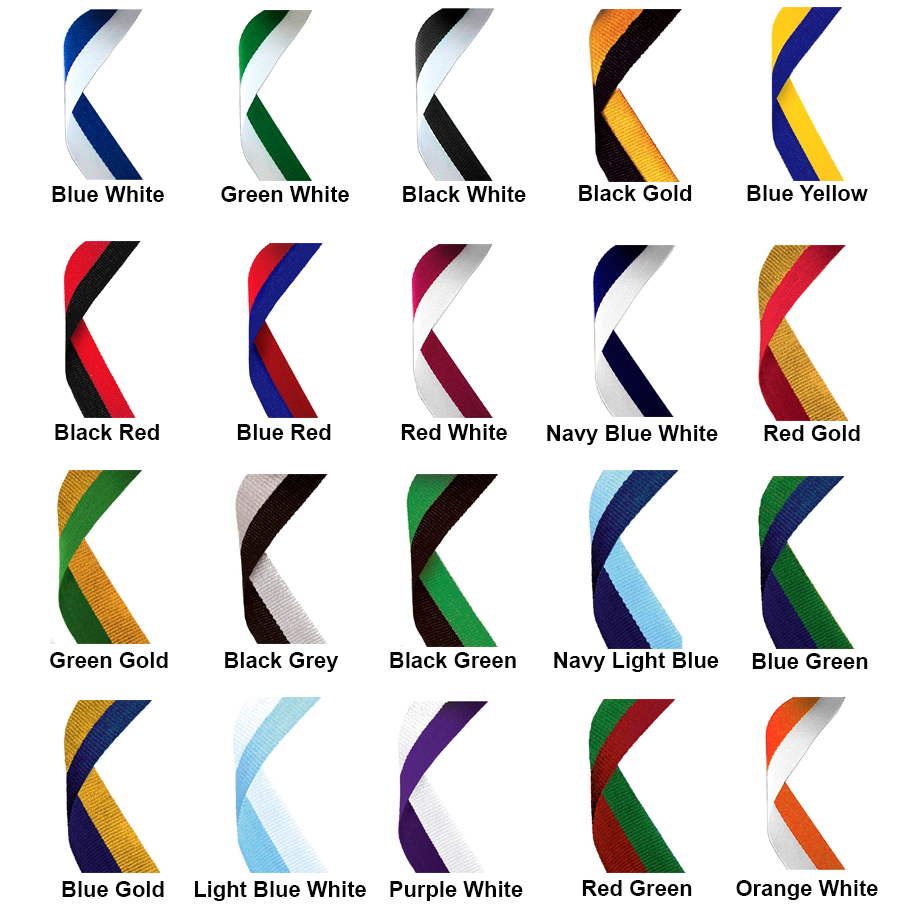 2 colour medal ribbons