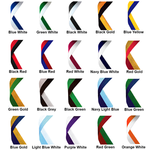 Two Colour Medal Ribbons