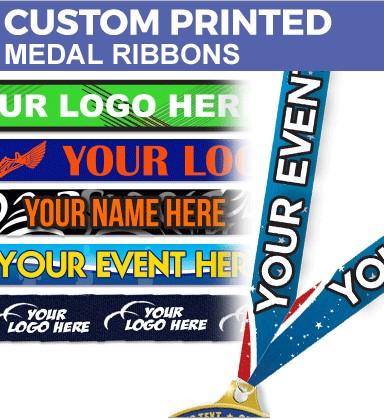 25mm Custom Medal Ribbons - DCR25