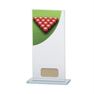 Colour Curve Snooker Glass Trophy - CR4821E