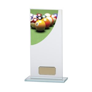 Colour Curve Pool Glass Trophy - CR4781