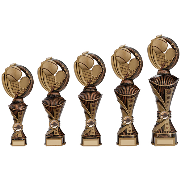 Renegade All Star Tennis Heavyweights Trophy Antique Bronze 5 sizes - PX17263