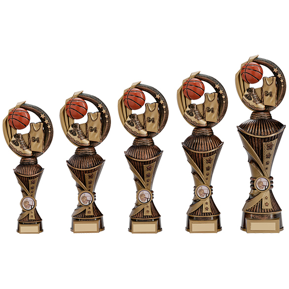 Renegade All Star Basketball Heavyweights Trophy Antique Bronze 5 sizes - PX17252