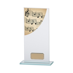 Colour Curve Music Glass Trophy